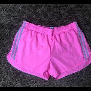Danskin Now Pink Fitness Workout Shorts Sz L